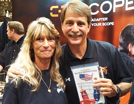 Jeff Foxworthy with his Block knife Sharpeners