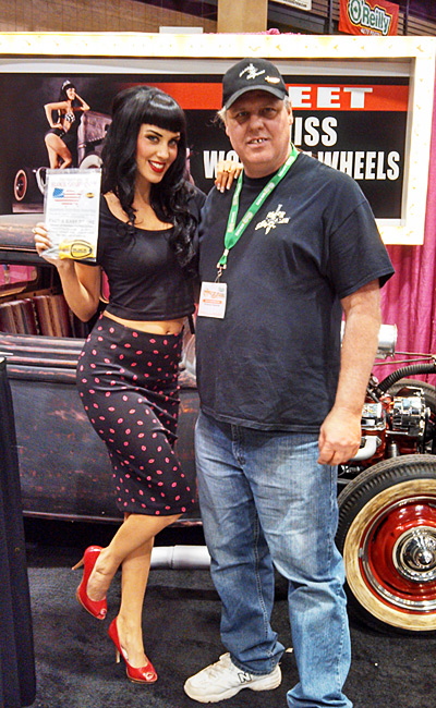 Miss World of Wheels 2015 For O'reilly Auto Parts Miss World of Wheels Looks & Stays Sharp with Paul Block owner of the Block Sharpener.