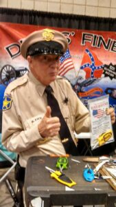 Barney Fife with his Block knife Sharpeners