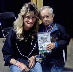 Felix Silla -(Cousin It) From Original TV show the Addams Family 2013 with his new Block Sharpener