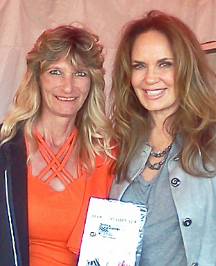 Catherine Bach -Aka (Daisy Duke) From the Original Dukes of Hazzard tv.show. with Billie jo Block owner of the Block sharpener