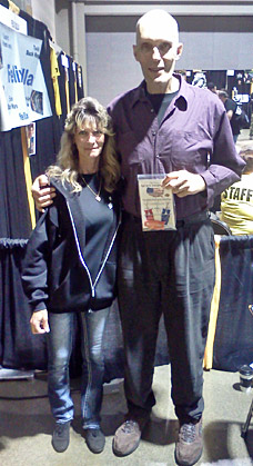 ``Lurch`` From original The Addams Family(stay sharp Lurch) great man to met. with his new Block Sharpeners