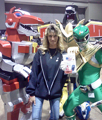 PowerRangers at comic con and their new Block Sharpener