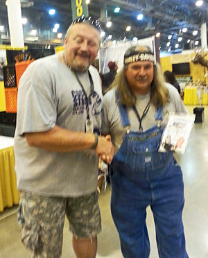 Bruce -TV Show Swamp people and his new Block Sharpener
