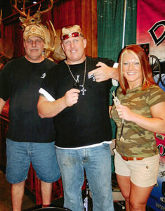 Amy & Ron TV Show (Lizard Lick towing) with their new Block Sharpeners