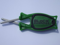 green handle black grip Block Sharpener