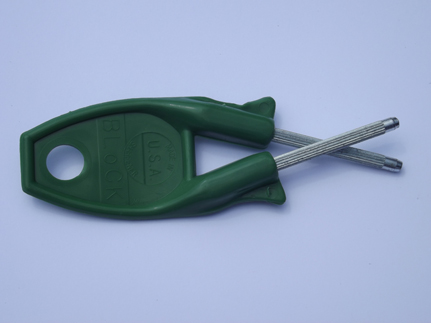 original Block Sharpener military grade knife with Green Handle