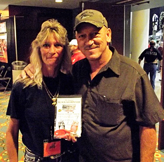 Troy Landry - TV Show Swamp People with his new Block Sharpener