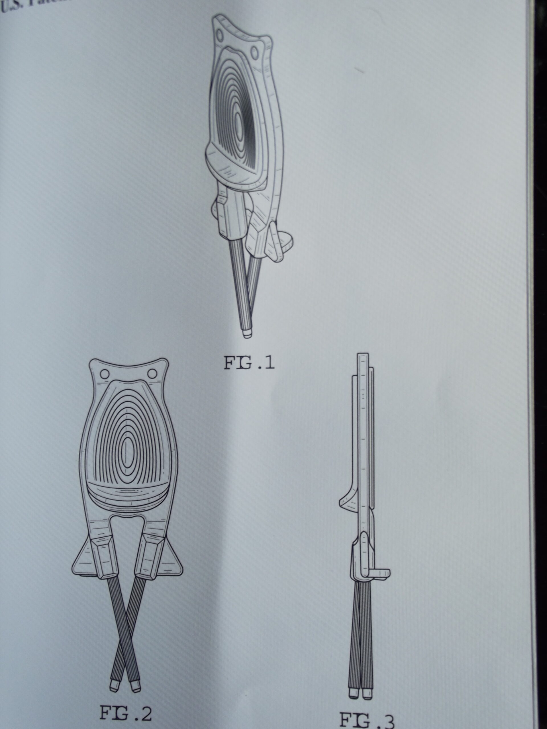 Drawing of Block's Patent Knife sharpener