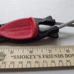 black handle red grip Block Sharpener