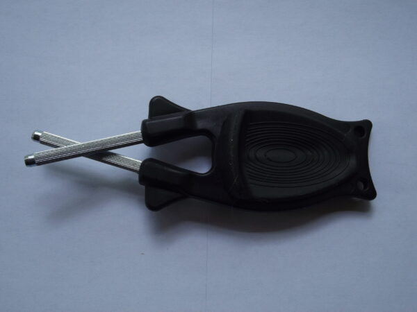 Black with Black Anti slip grip knife sharpener for sale online.
