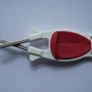 Kitchen Knife sharpener White with Red grip for sale online.