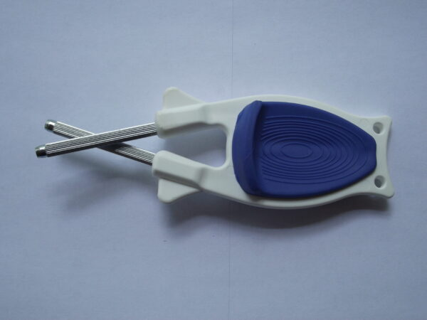 White Block sharpener with Blue Anti-Slip Grip for sale online.