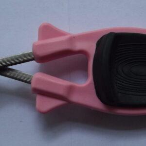 Pink knife sharpener for sharpening Kitchen knives