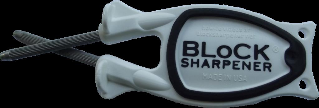 White Block knife sharpener for sale.