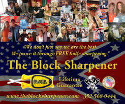 Block knife sharpener banner