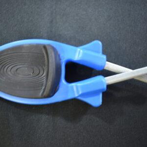 Blue Knife sharpener with Black grip