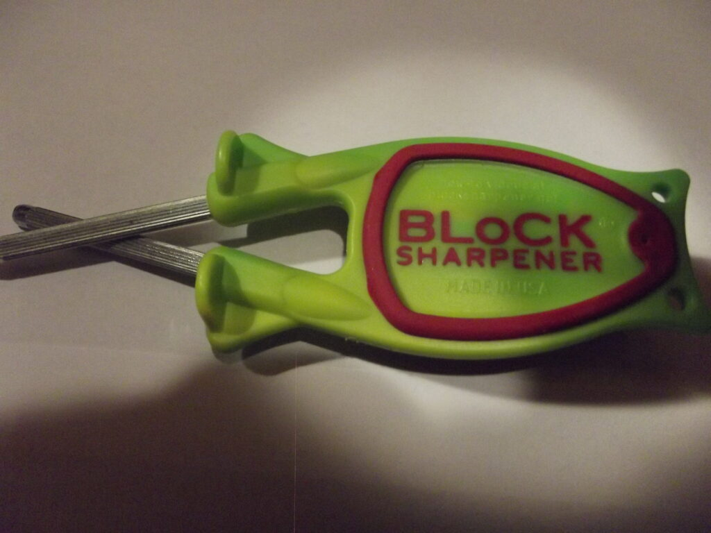 Green with Red grip Knife sharpeners for sale. (Free Shipping)