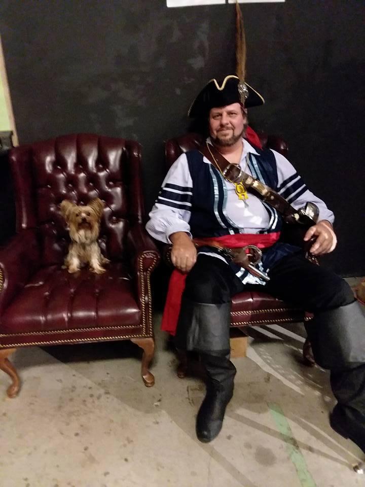 Pirate Captain Sharp Blade and Buddy boy Bentley.