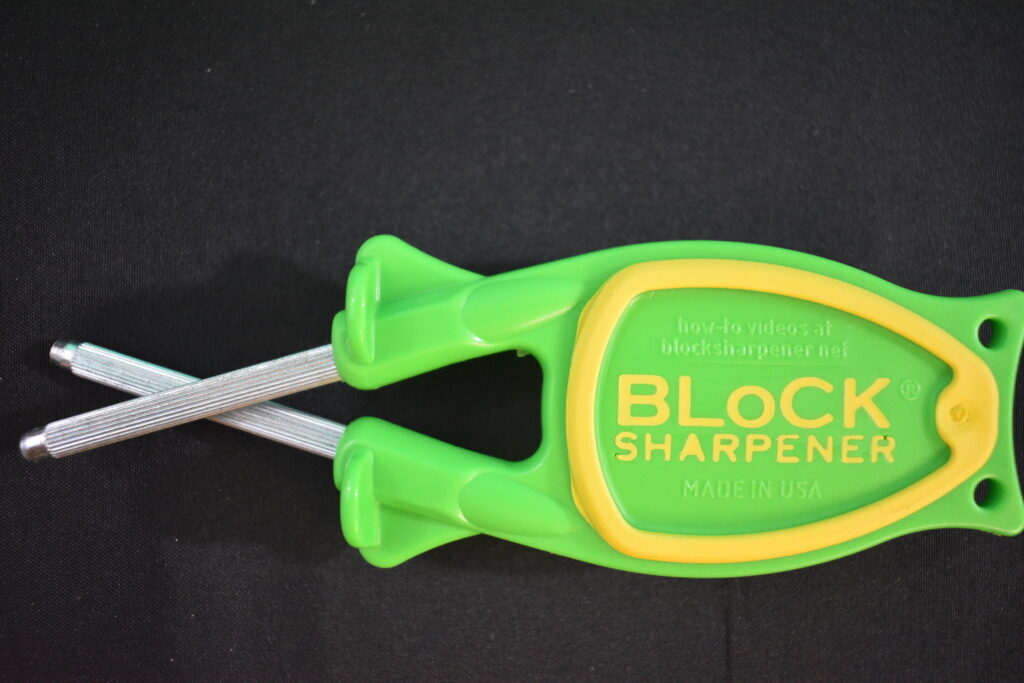 Bottom side of a Block knife sharpener