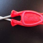 Red Block knife sharpener
