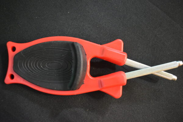 Red with Black grip knife sharpener